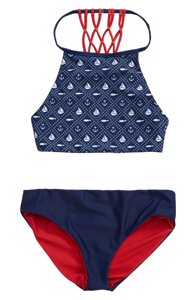 LIMEAPPLE Trish Reversible Two-Piece Swimsuit, Main, color, NAVY