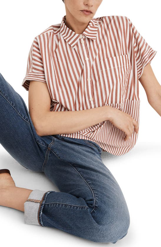 MADEWELL Cottons STRIPE PLAY DAILY SHIRT