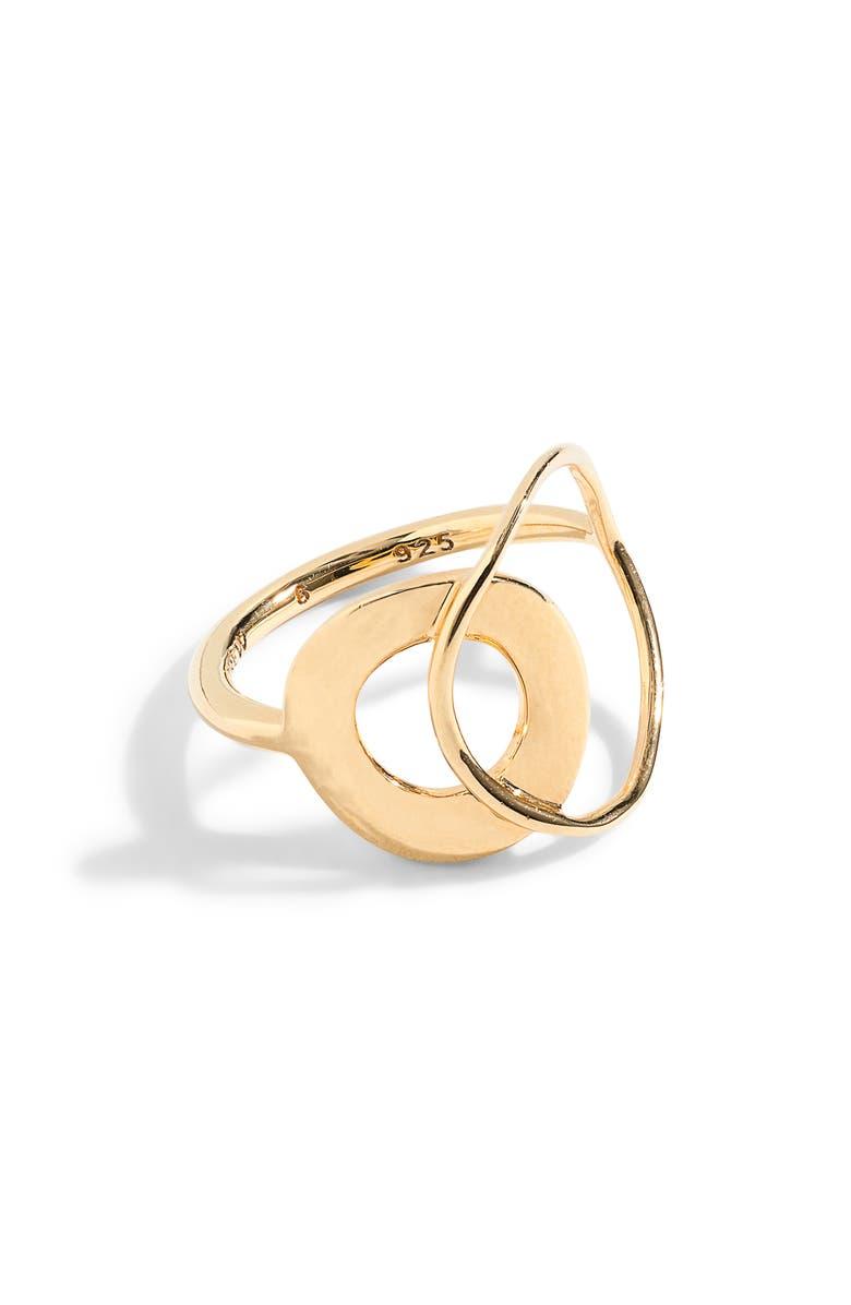 J.CREW Demi Torus Link Layered Ring, Main, color, 710