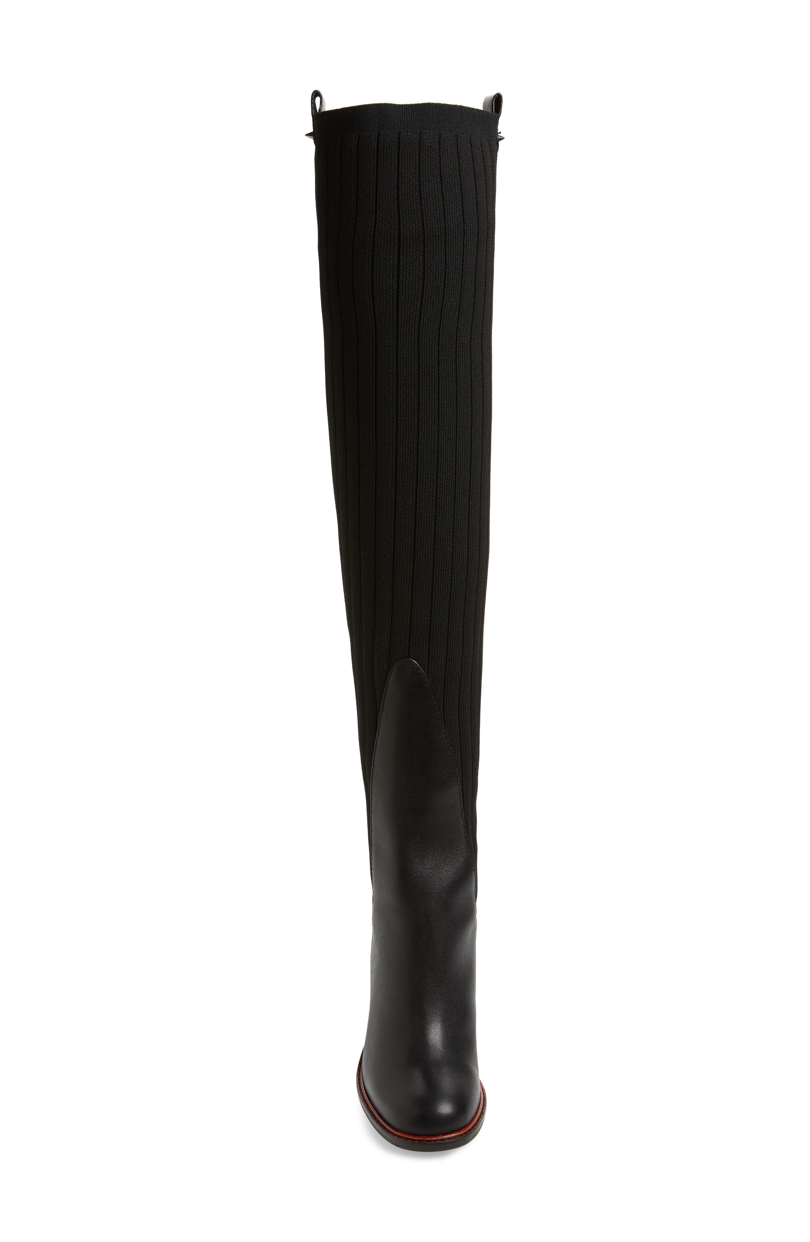 ,                             Over the Knee Knit Boot,                             Alternate thumbnail 4, color,                             001