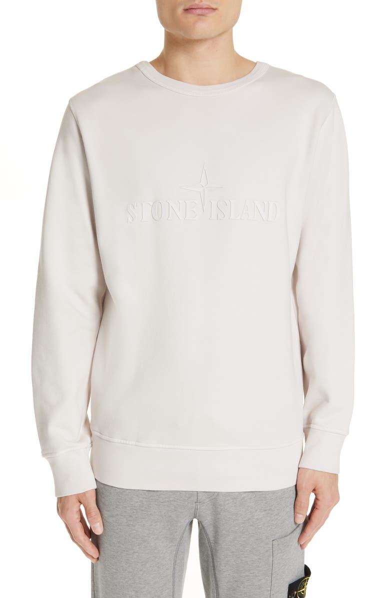 Logo Crewneck Sweatshirt by Stone Island