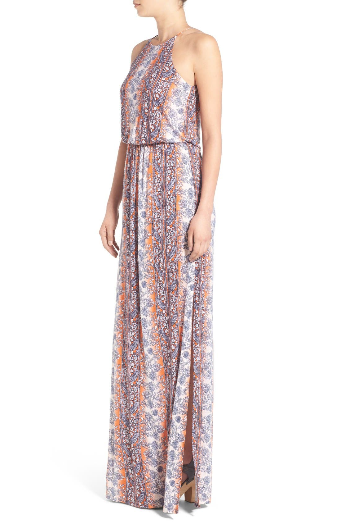 ,                             High Neck Maxi Dress,                             Alternate thumbnail 122, color,                             601