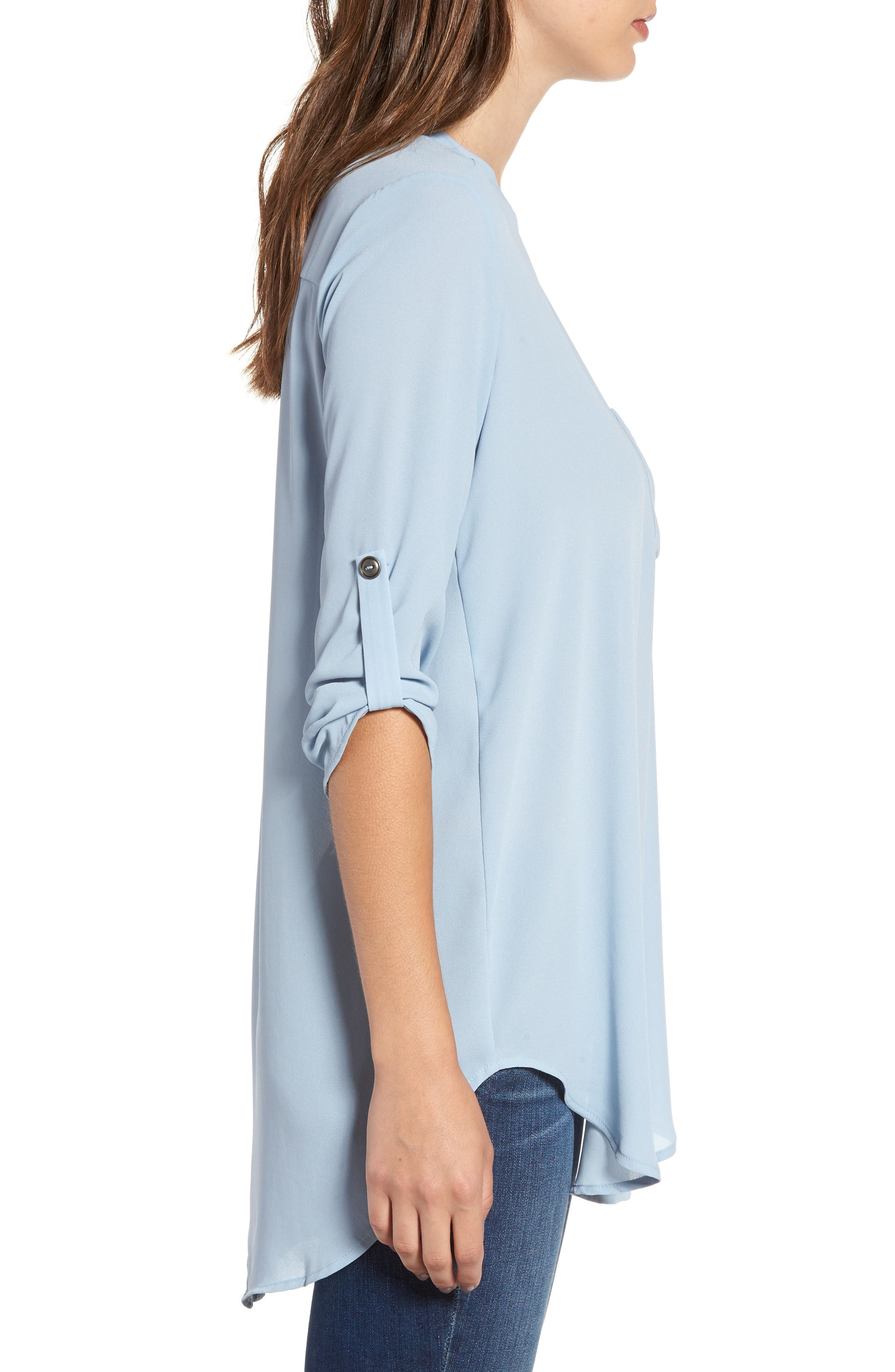 ,                             Perfect Roll Tab Sleeve Tunic,                             Alternate thumbnail 100, color,                             433