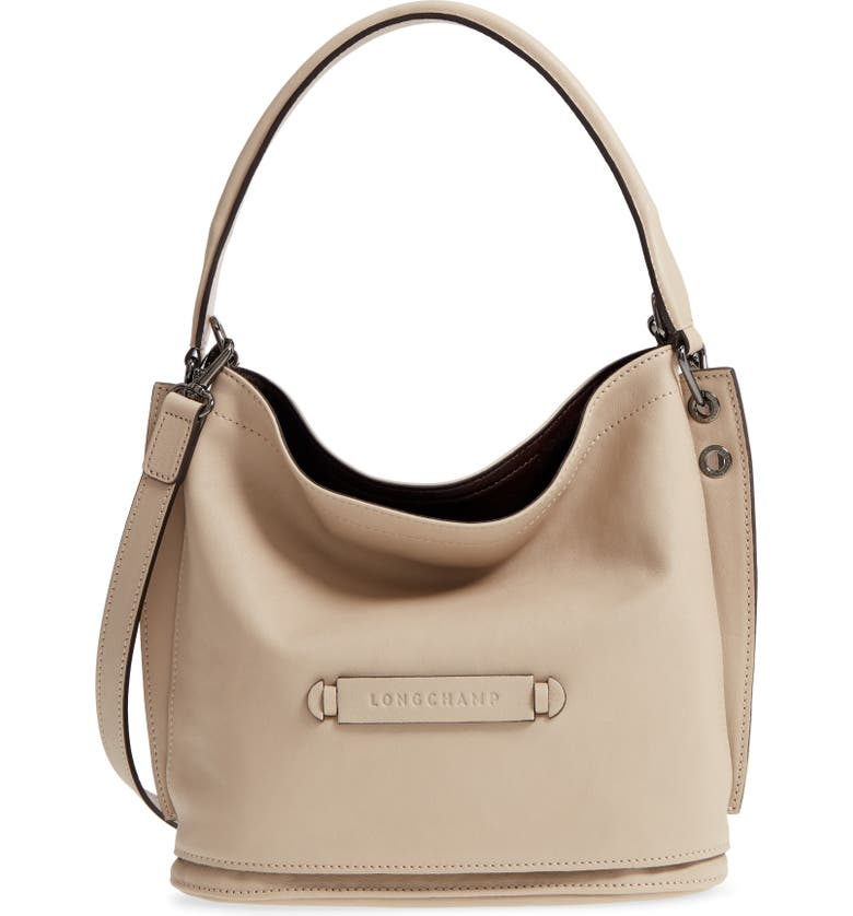 LONGCHAMP 3D Leather Bucket Bag, Main, color, 020