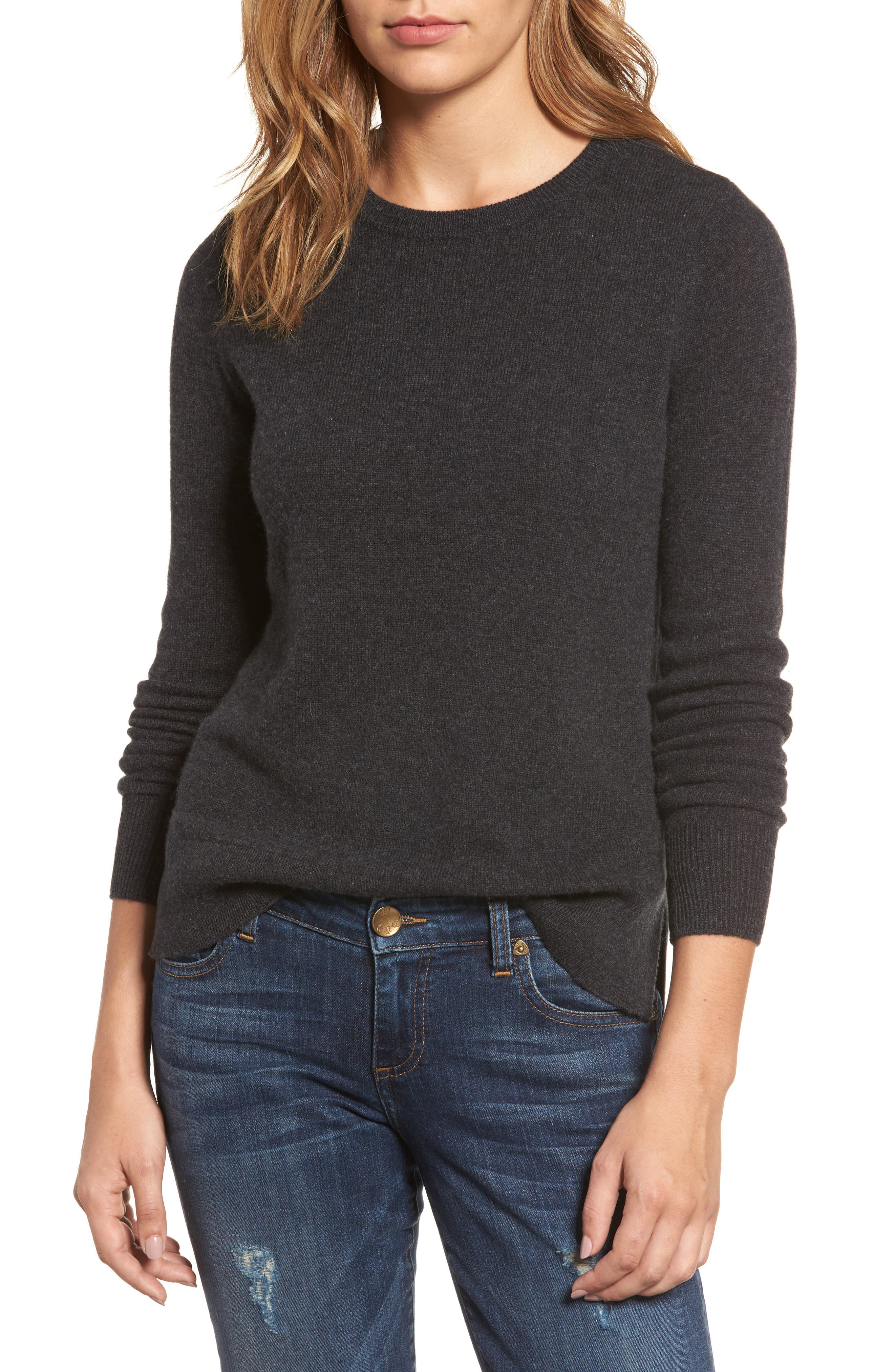 ,                             Crewneck Cashmere Sweater,                             Main thumbnail 251, color,                             021
