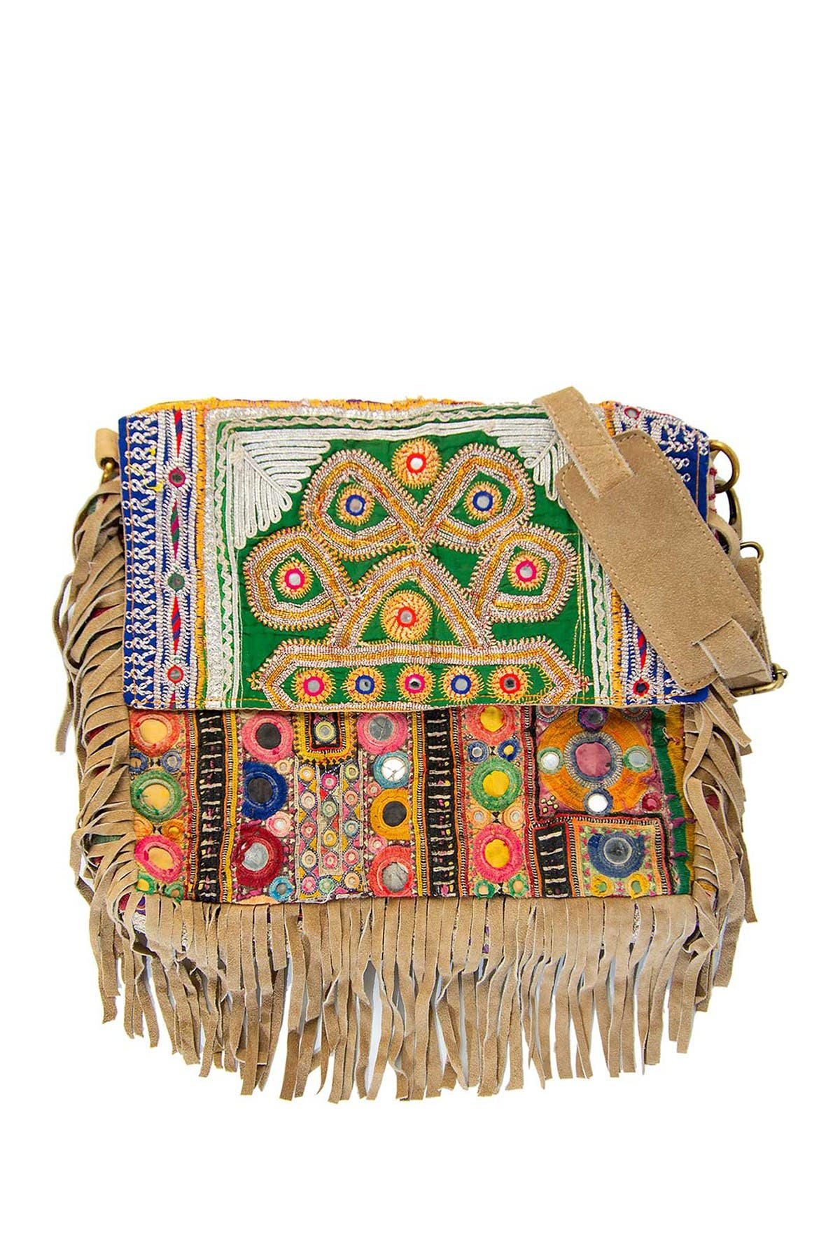 Image of Vintage Addiction Boho Chic Suede Fringe Messenger Bag
