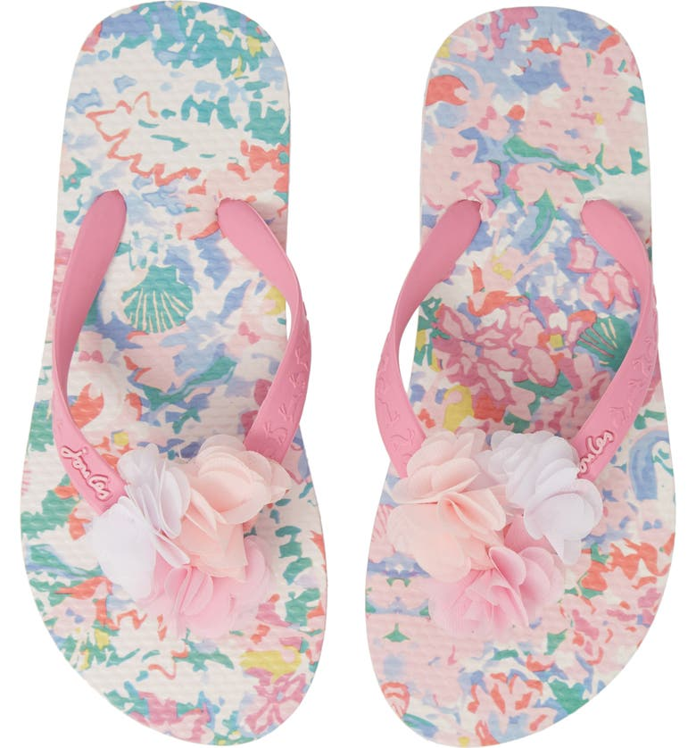 JOULES Floral Flip Flop Sandal, Main, color, 198