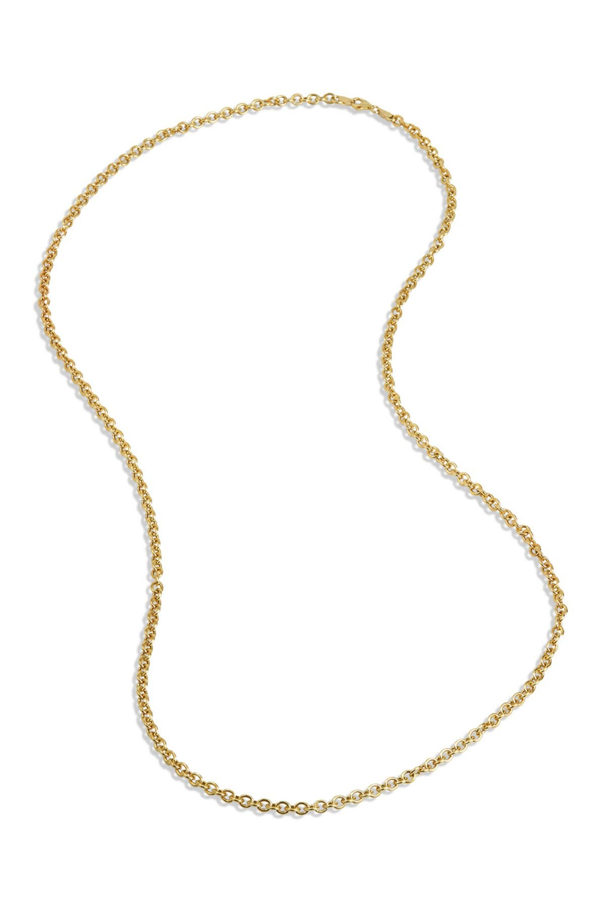 Savvy Cie 18K Gold Vermeil Italian Link Chain Necklace at Nordstrom Rack