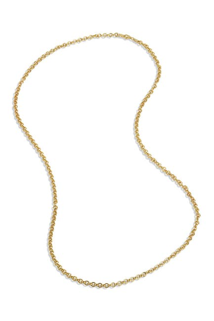 Image of Savvy Cie 18K Gold Vermeil Italian Link Chain Necklace