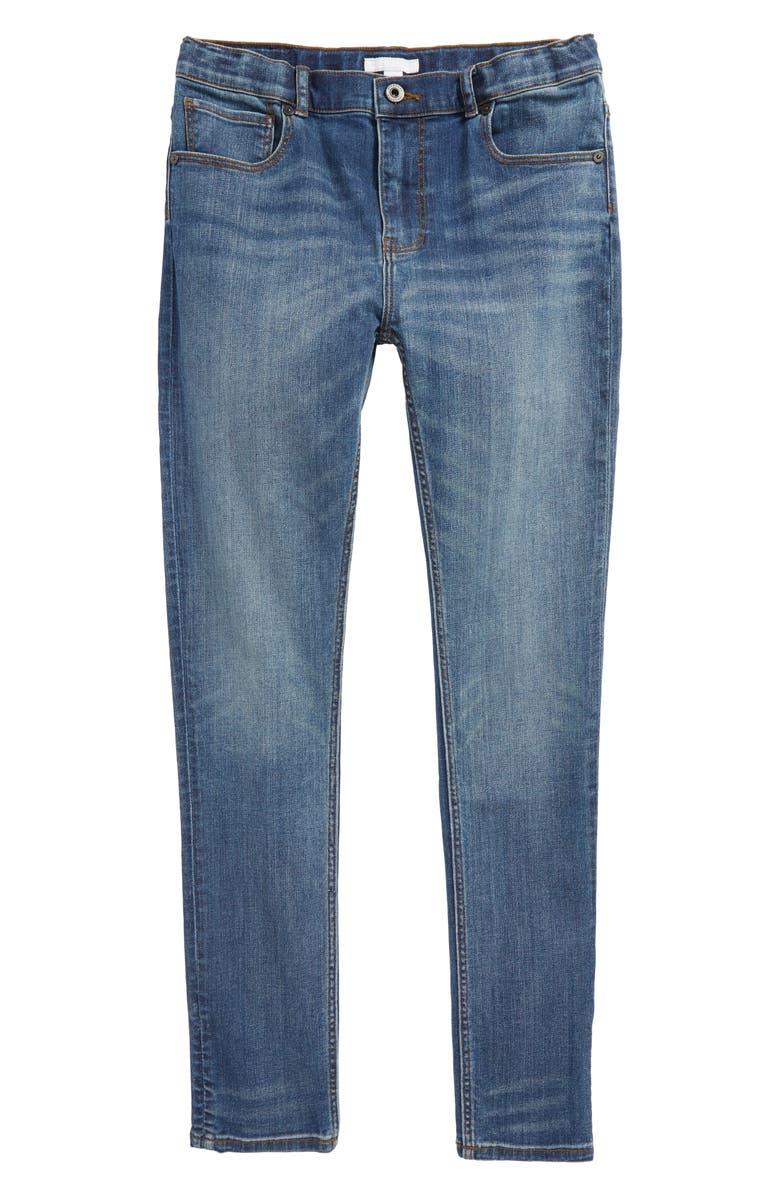 BURBERRY Skinny Jeans, Main, color, MEDIUM INDIGO
