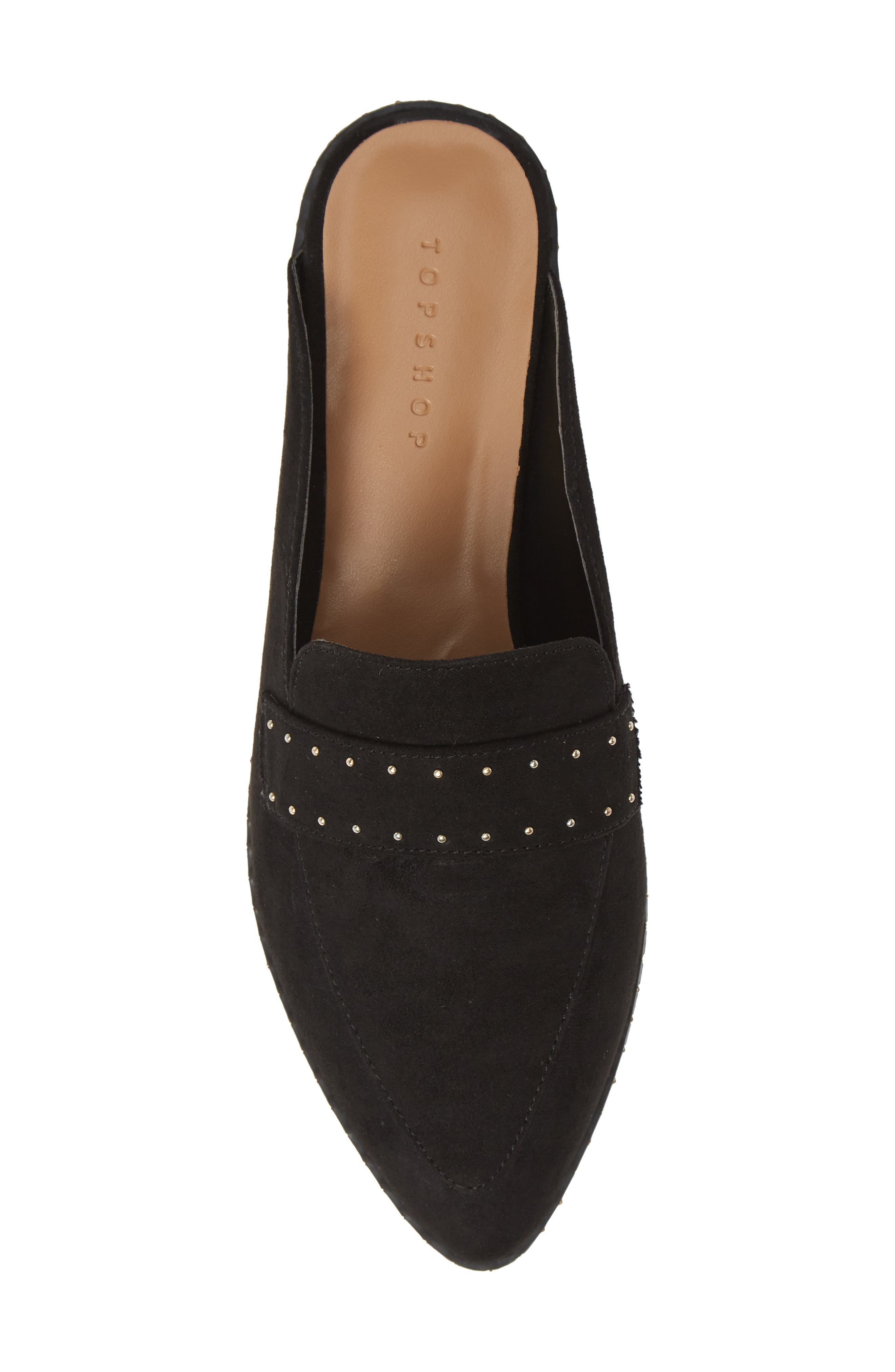 ,                             Lara Studded Loafer Mule,                             Alternate thumbnail 5, color,                             BLACK