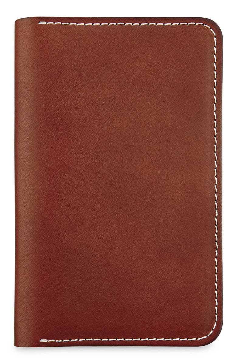 RED WING Leather Passport Wallet, Main, color, ORO RUSSET