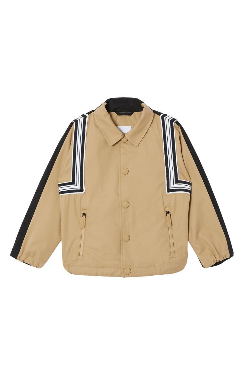 BURBERRY Kids' Patrick Coordinates Print Water Resistant Jacket, Main, color, HONEY