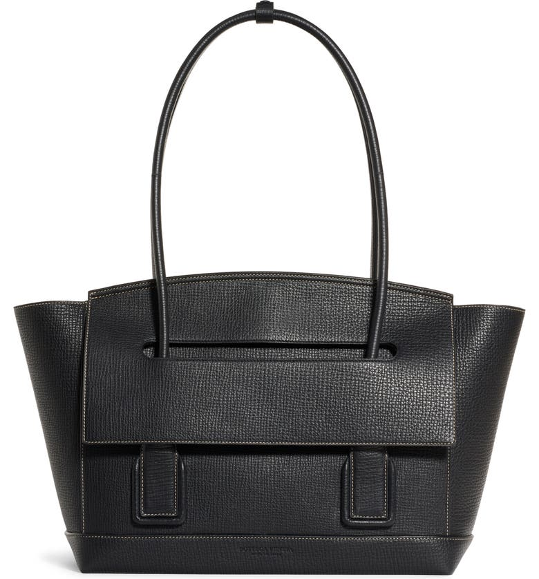 BOTTEGA VENETA The Arco 48 Leather Top Handle Bag, Main, color, NERO