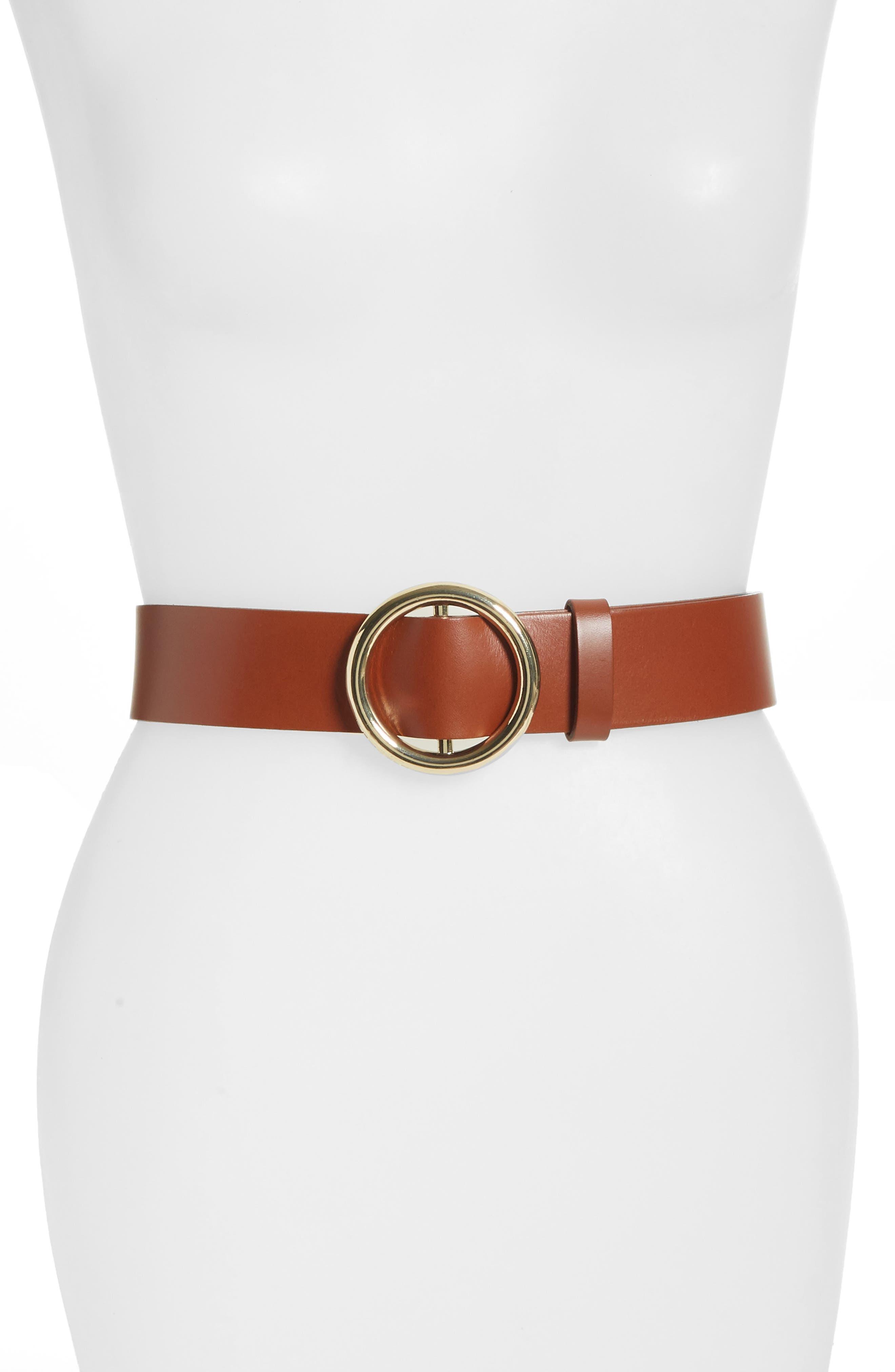 Frame O-Ring Leather Belt