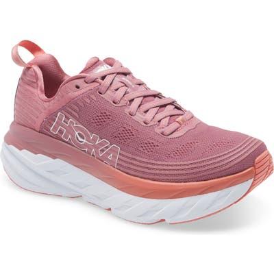 Hoka One One Bondi 6 Running Shoe, Pink