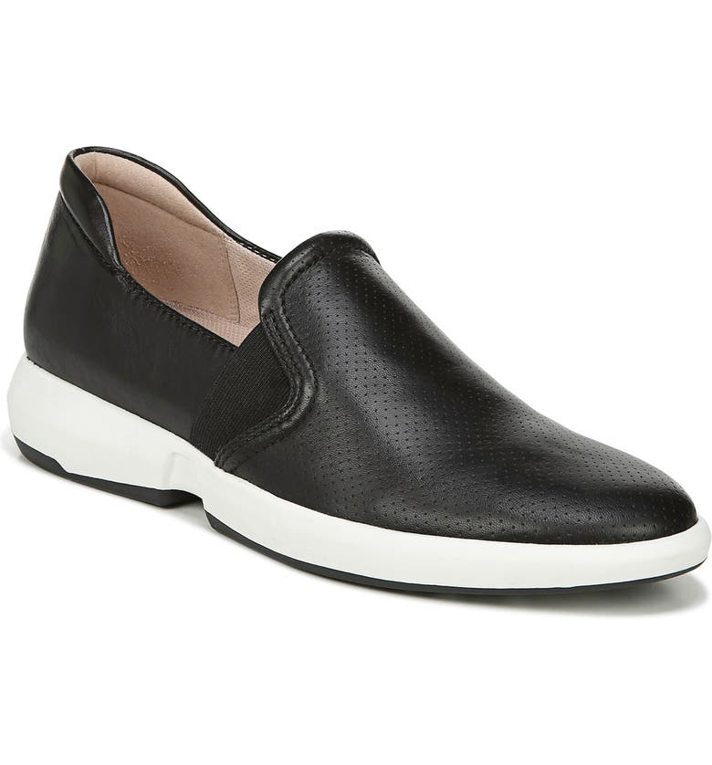 27 EDIT Dionne Slip-On Sneaker, Main, color, BLACK LEATHER