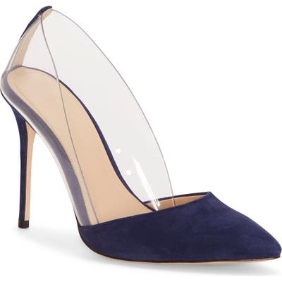 Imagine By Vince Camuto Ossie Clear Pump, Blue
