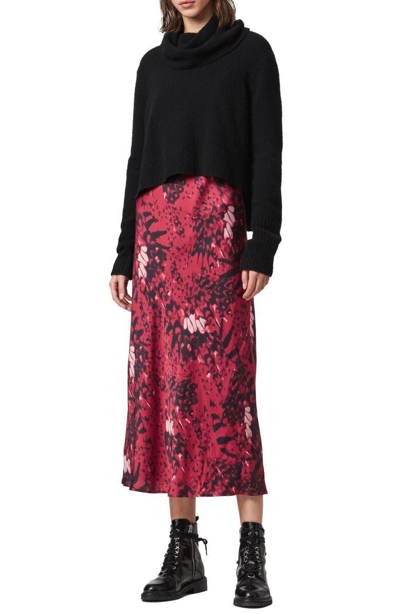 ALLSAINTS Tierny Wing 2-Piece Midi Dress, Main, color, PINK
