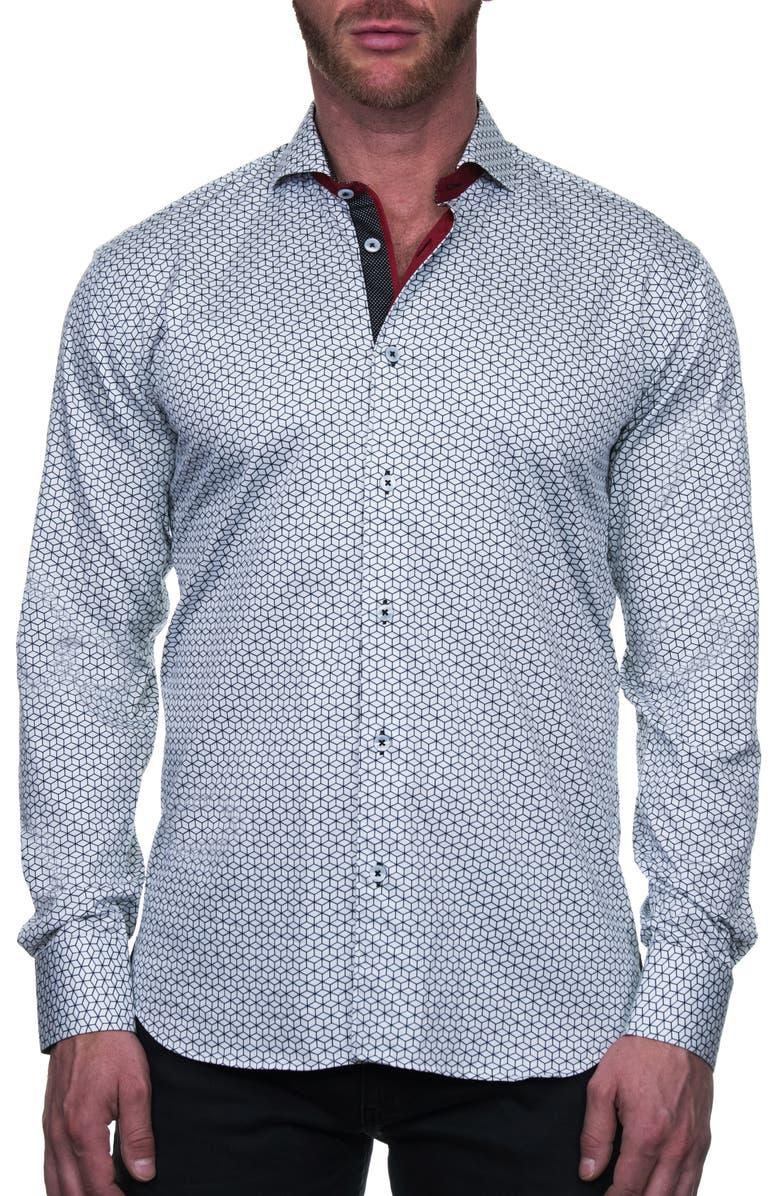MACEOO Einstein Box Regular Fit Button-Up Shirt, Main, color, WHITE
