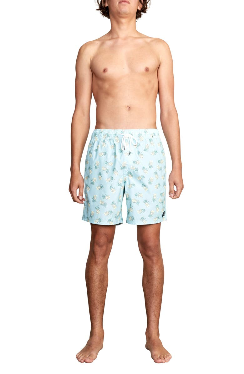 RVCA Program Pineapple Print Swim Trunks, Main, color, 432