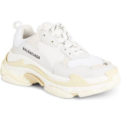 Balenciaga Triple S Low Top Sneaker, White