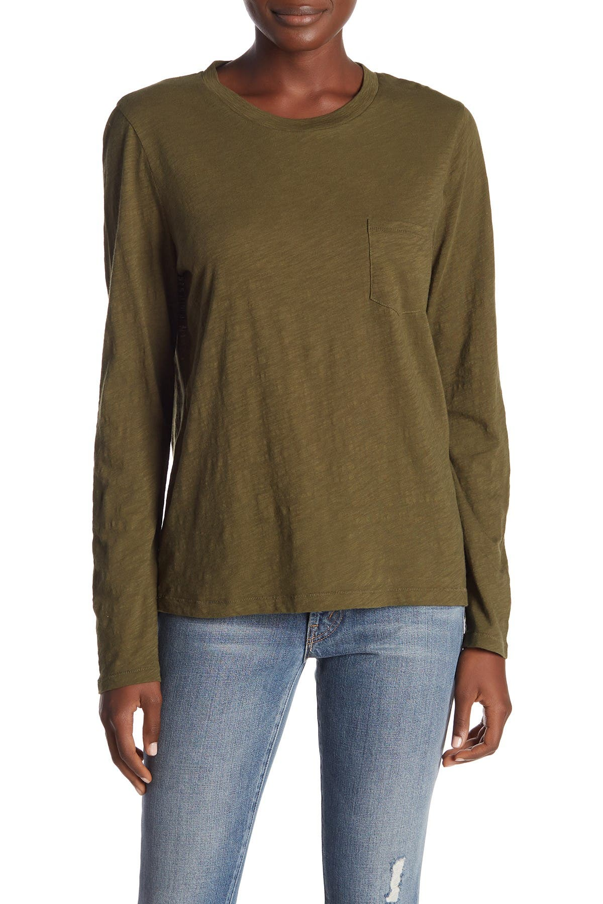 Image of Madewell Crew Neck Long Sleeve T-Shirt