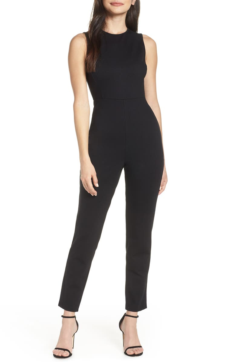 FRENCH CONNECTION Sundae Lula Sleeveless Jumpsuit, Main, color, 001