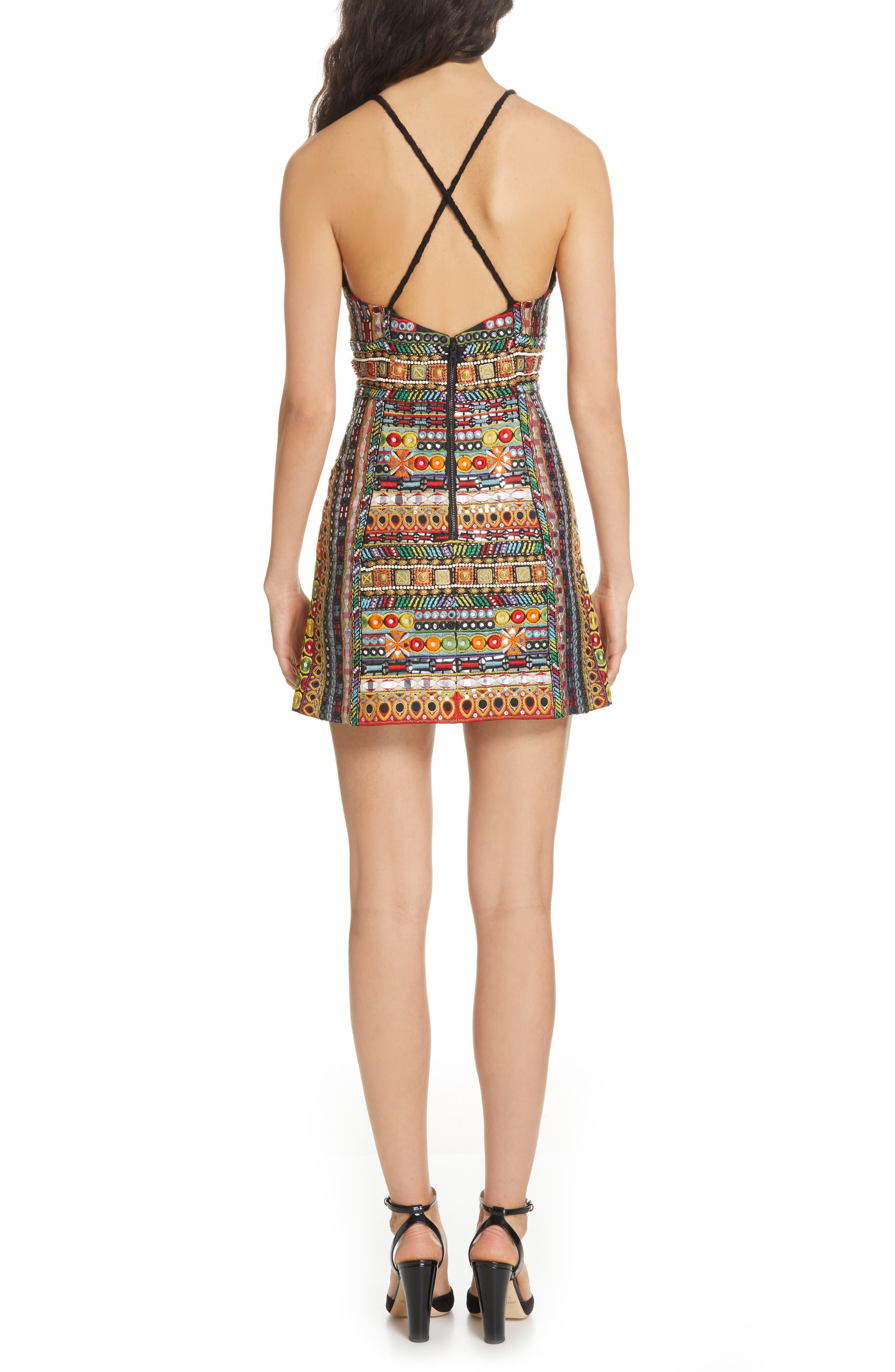 ,                             Tayla Embroidered Minidress,                             Alternate thumbnail 2, color,                             MULTI