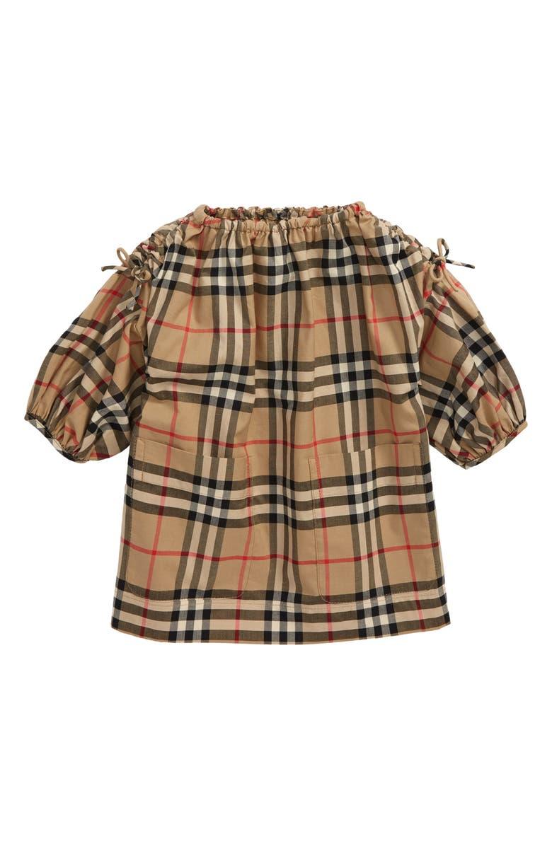 BURBERRY Alenka Check Dress, Main, color, ARCHIVE BEIGE  CHK