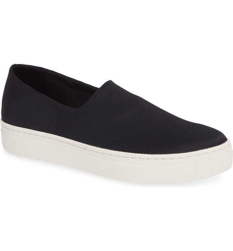 VAGABOND SHOEMAKERS Camille Slip-On Sneaker, Main, color, BLACK FABRIC