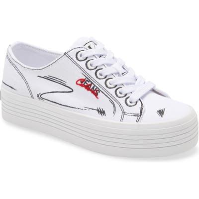 Calvin Klein Jeans Zaffiro Platform Sneaker- White