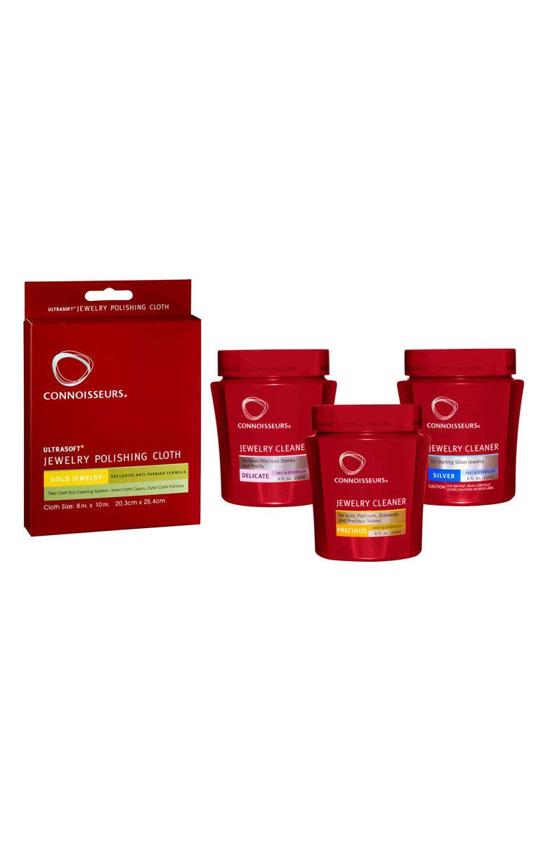 CONNOISSEURS Jewelry Cleaning Full Set, Main, color, RED
