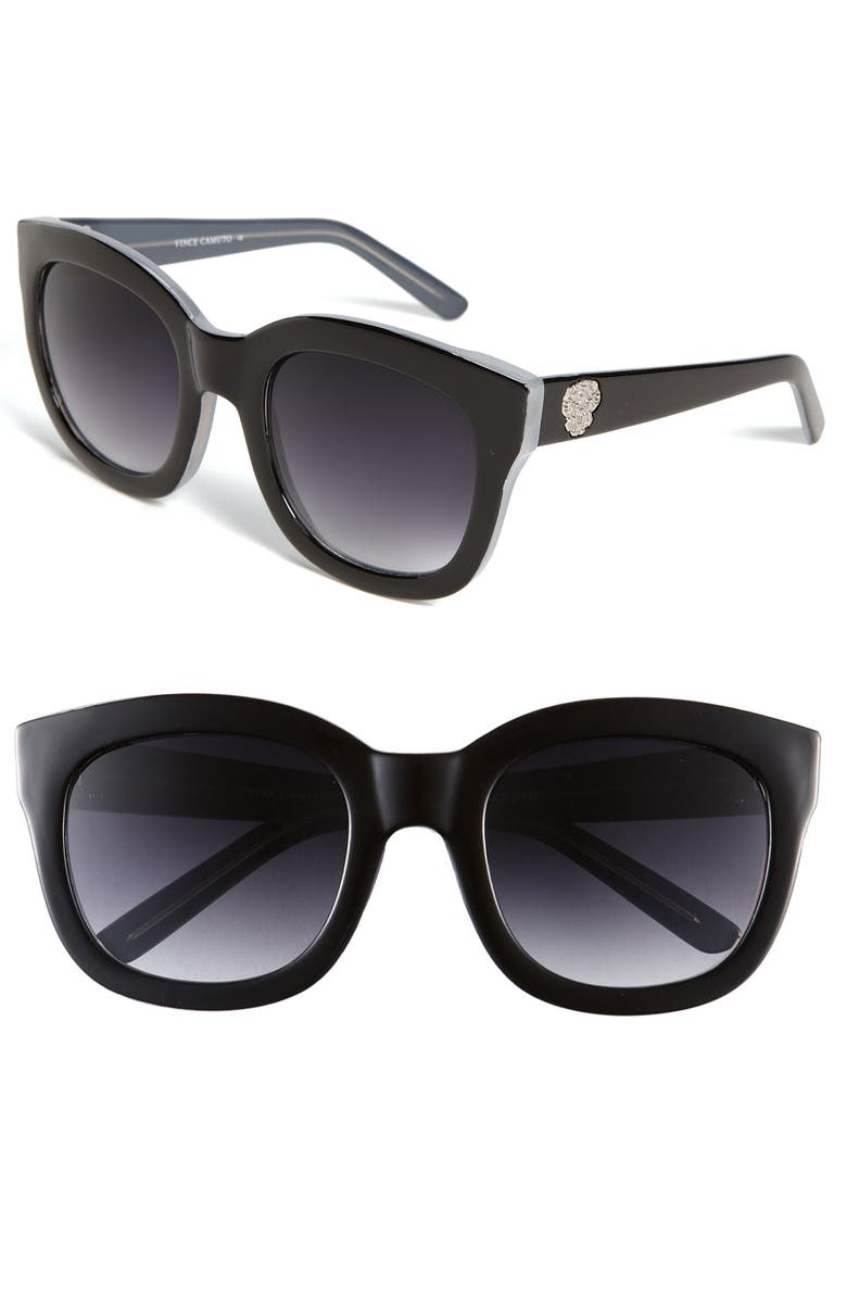 VINCE CAMUTO 54mm Oversized Cat Eye Sunglasses, Main, color, 001