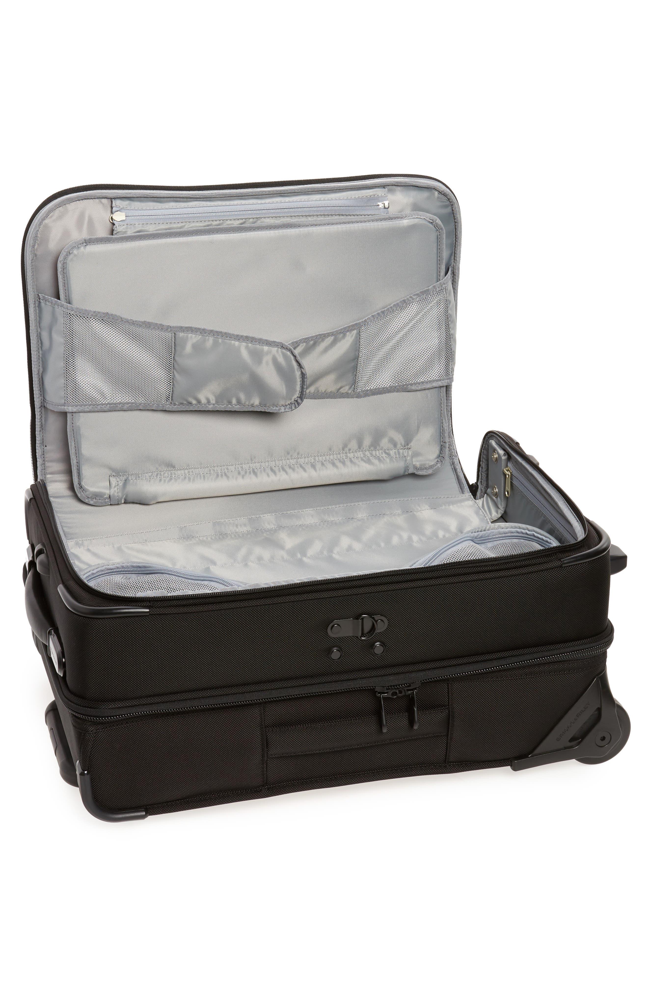 ,                             'Baseline - Domestic' Rolling Carry-On Garment Bag,                             Alternate thumbnail 2, color,                             BLACK