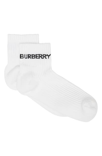 Burberry Cottons LOGO ANKLE SPORTS SOCKS