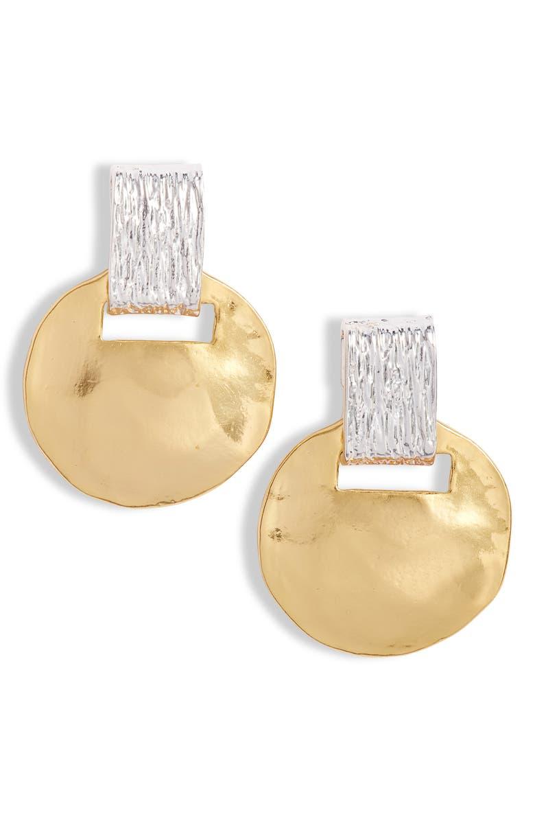 KARINE SULTAN Statement Drop Earrings, Main, color, GOLD/ SILVER