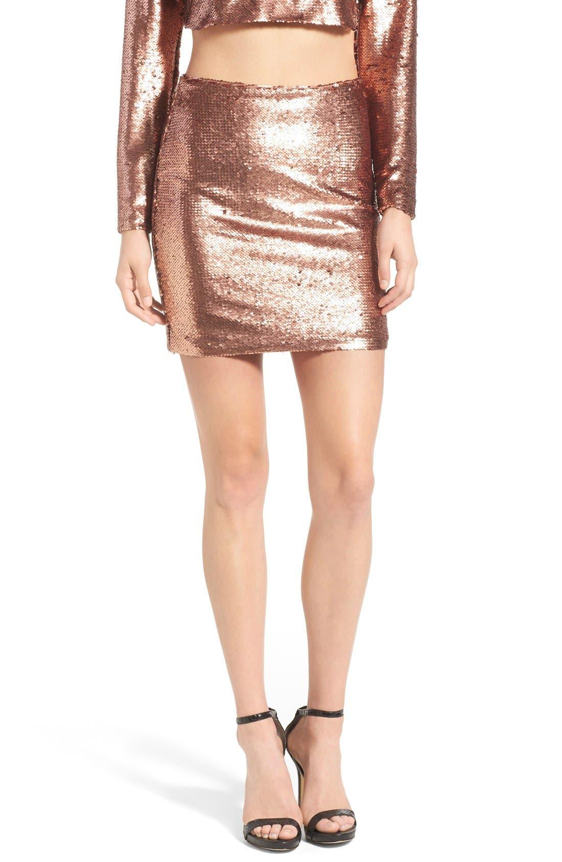 ,                             Sequin Miniskirt,                             Main thumbnail 1, color,                             220