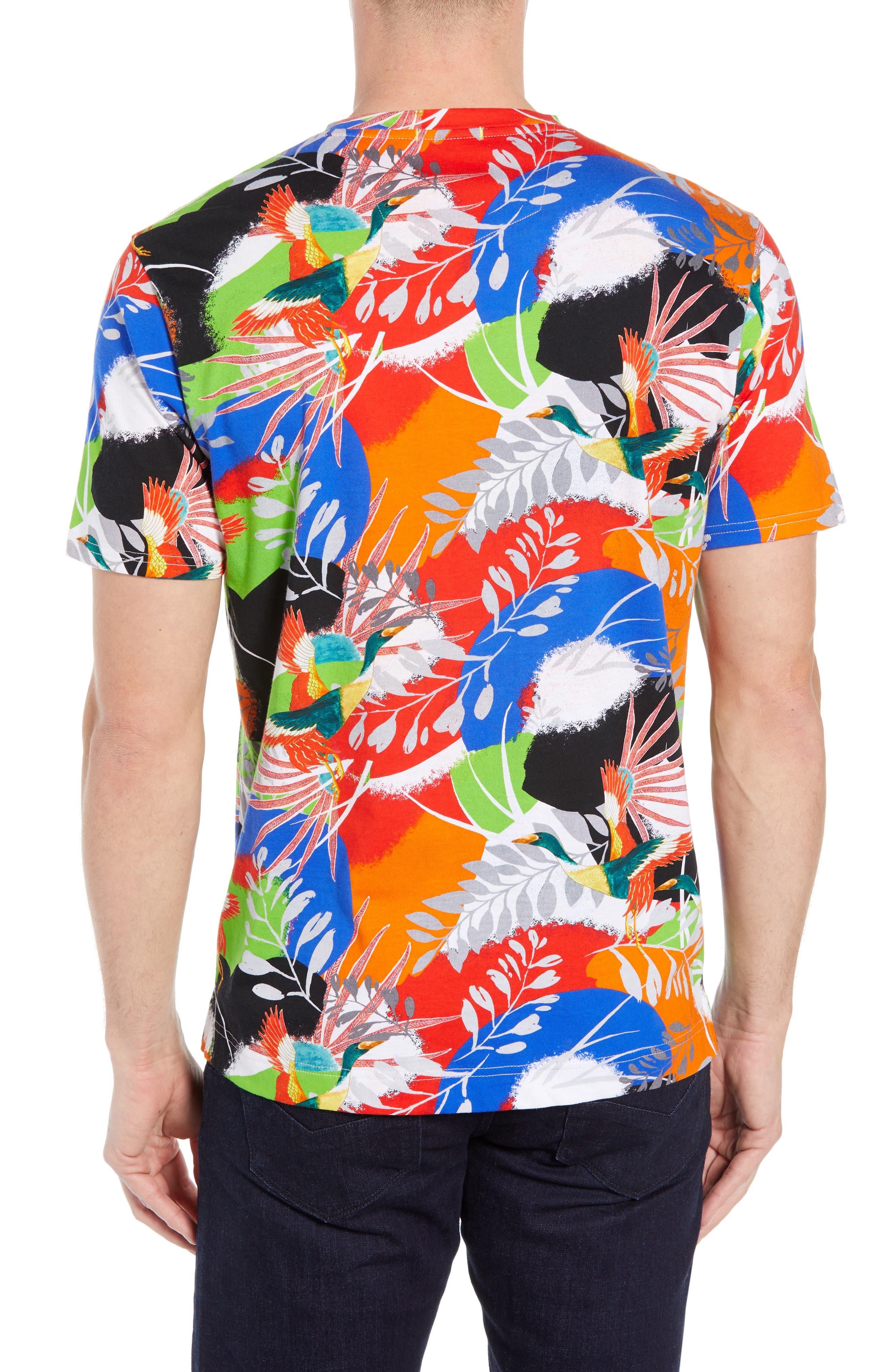 ,                             Flying Crane Tailored Fit T-Shirt,                             Alternate thumbnail 2, color,                             MULTI BLUE