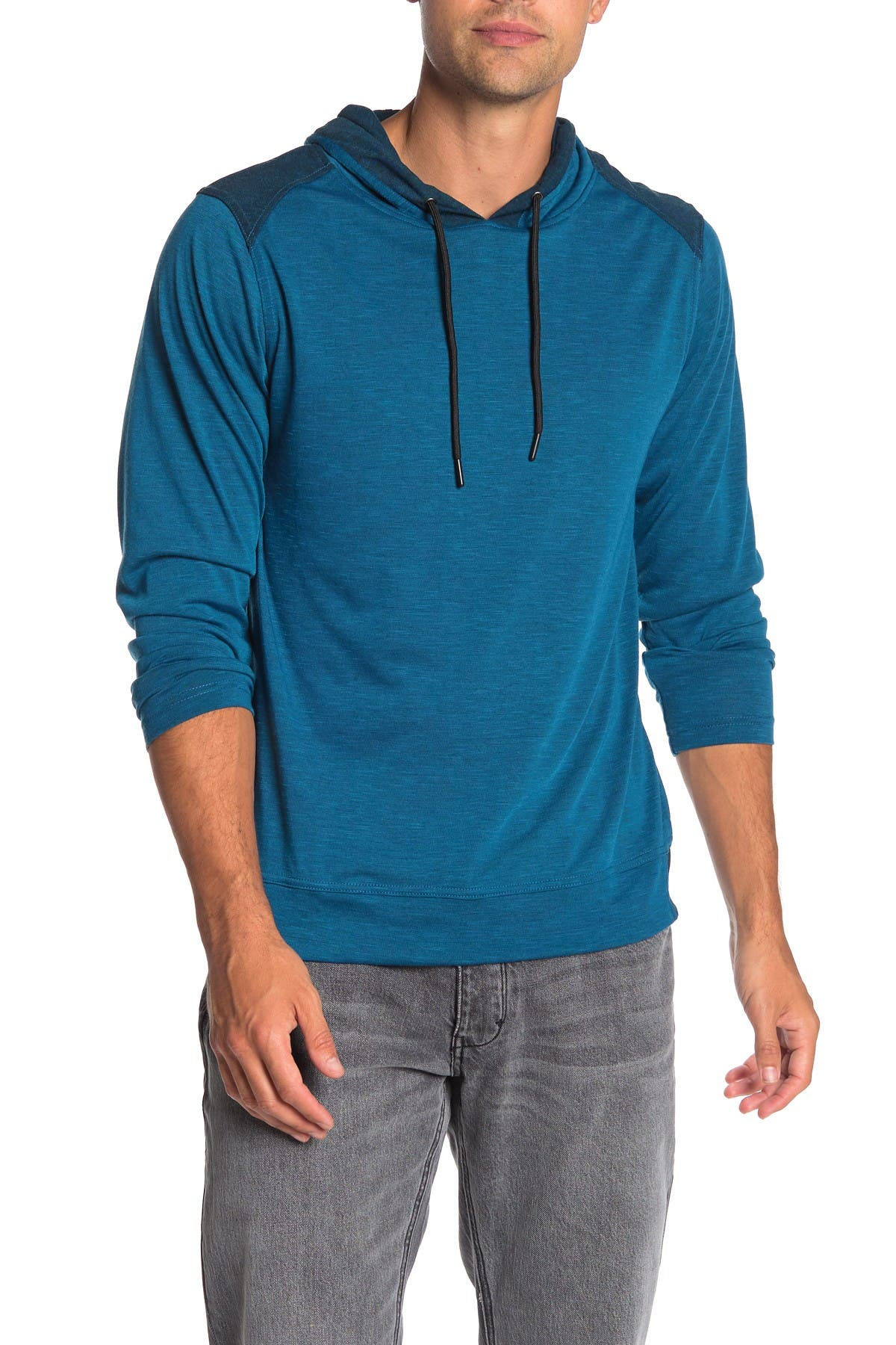 Image of Burnside Colorblock Paneled Pullover Hoodie