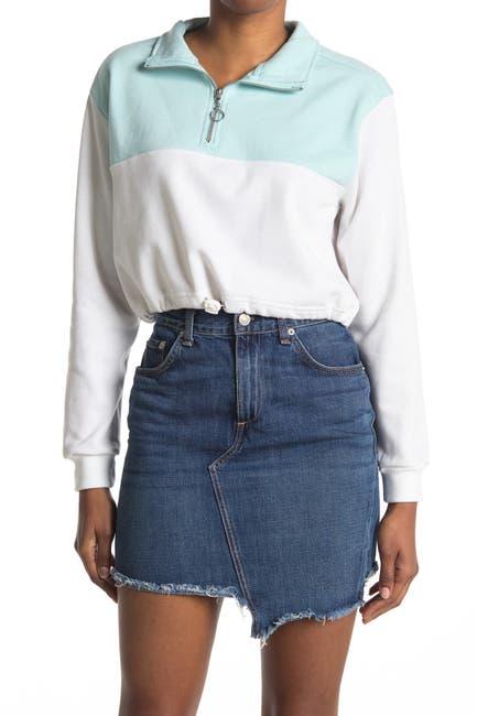 Image of Desert Dreamer Colorblock Quarter Zip Sweater