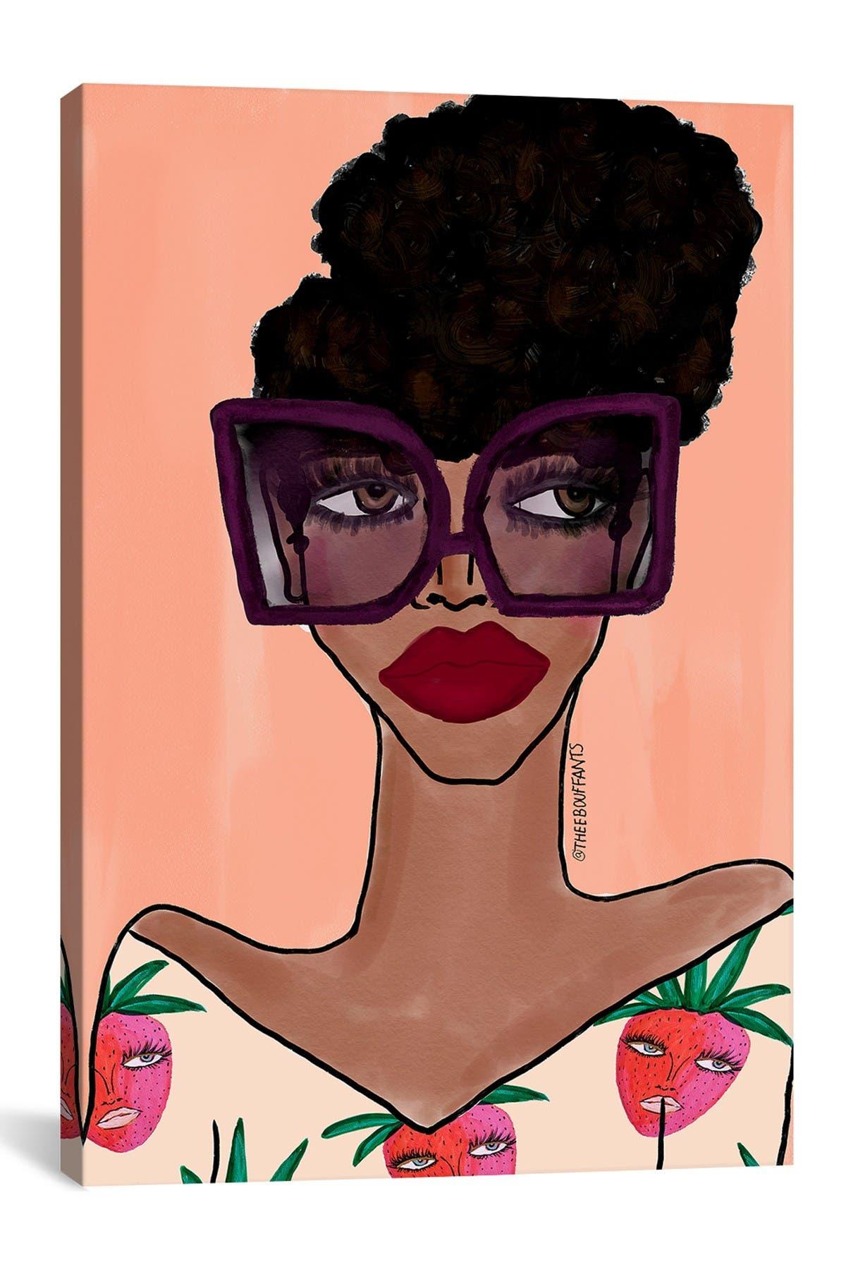 Image of iCanvas Fashion Girl III by Bouffants & Broken Hearts