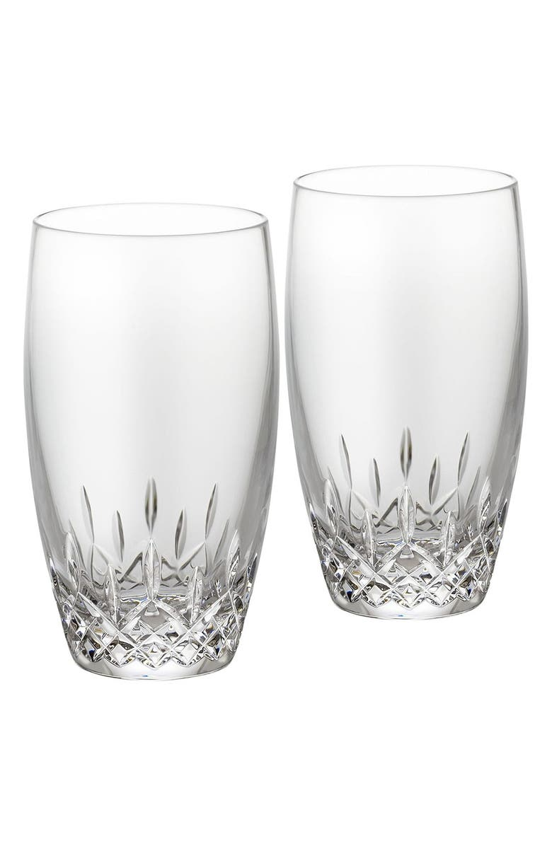 WATERFORD 'Lismore Essence' Lead Crystal Highball Glasses, Main, color, 100