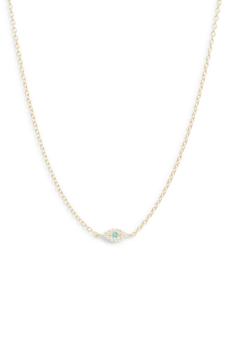 ADINA'S JEWELS Evil Eye Necklace, Main, color, TURQUOISE