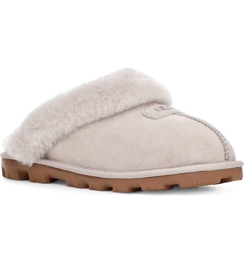 UGG<SUP>®</SUP> Genuine Shearling Slipper, Main, color, FEATHER