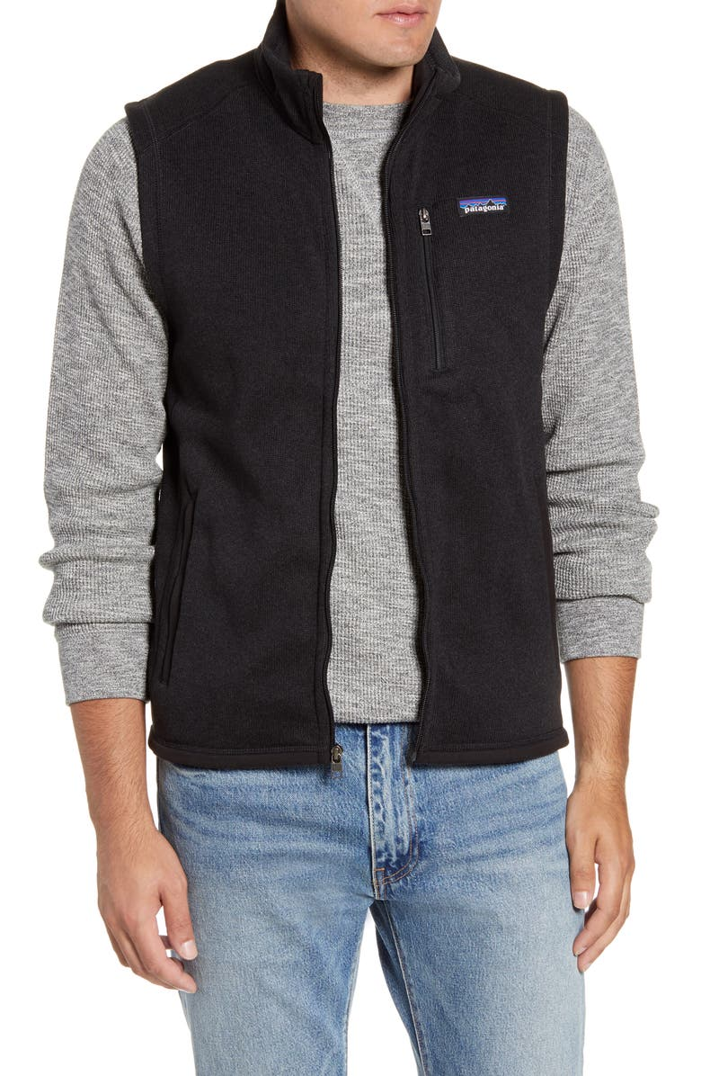 PATAGONIA Better Sweater<sup>®</sup> Zip Vest, Main, color, BLACK