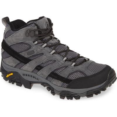 Merrell Moab 2 Mid Waterproof Hiking Shoe- Grey