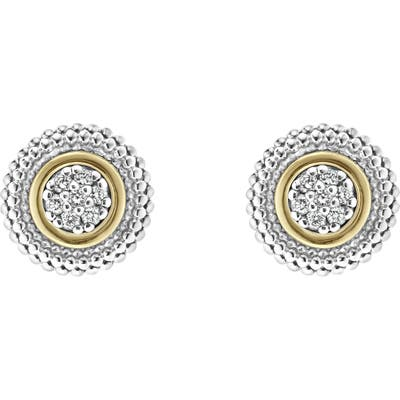 Lagos Caviar Diamond Stud Earrings