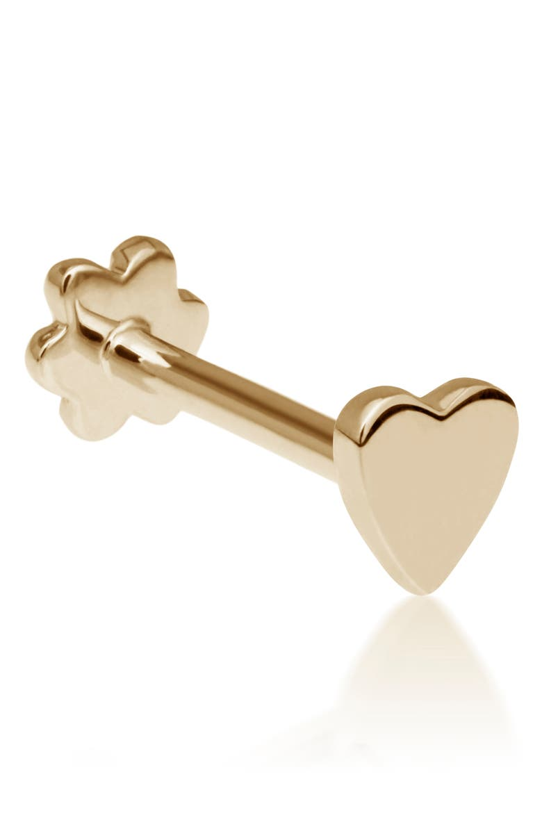 MARIA TASH Heart Threaded Stud Earring, Main, color, YELLOW GOLD