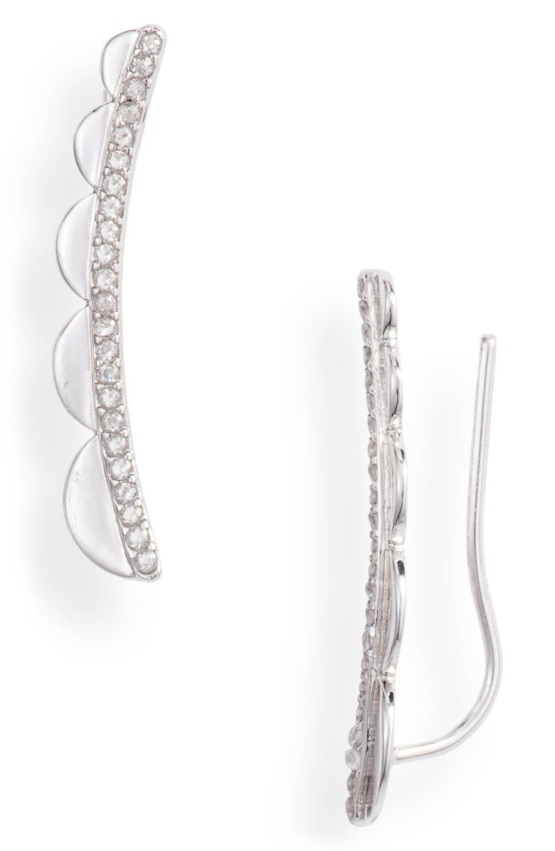 Pavé Scallop Ear Crawlers by Kate Spade New York